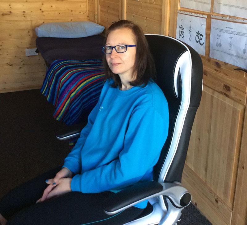 Anne Duneclift sitting